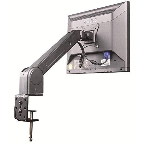 Soporte de mesa para monitor de un brazo con dispositivo de apriete en negro inclinable para LG 27
