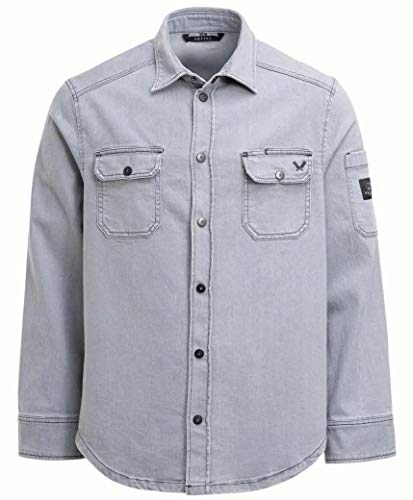 GREIFF 5588 Herren Kochjacke 'The Chef' - Regular Fit - Limited Edition - Grey Denim - Gr. XXL
