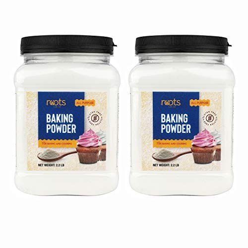 Roots Circle Baking Powder   Gluten-Free All-Purpose Leavening Agent For Cooking and Baked Goods, Desserts, Breads, & Cake   Vegan & Kosher-Safe   4lb [70oz] Airtight Bulk Container