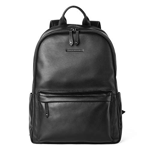 Sharkborough Supreme Anton Men's Backpack Genuine Leather Travel Bag Extra Capacity Casual Daypacks Designer Supreme Large Fan