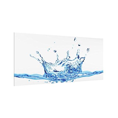 Bilderwelten Spritzschutz Glas - Water Splash II - Quer 1:2, HxB: 40cm x 80cm