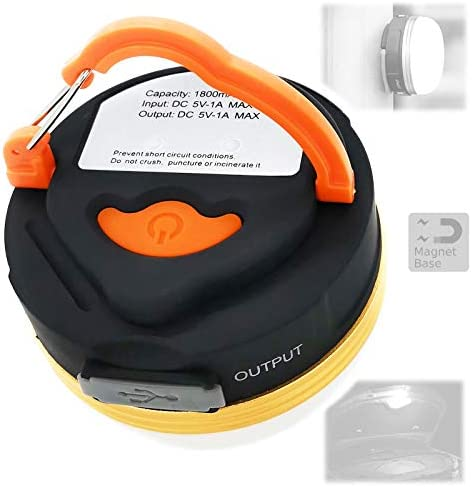 FOCUS REVISION Rechargeable Camping Lantern with Magnet Base and Emergency Light Charger for product image