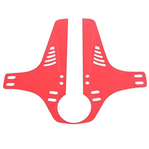 SALUTUYA Guardabarros Ligeros, Resistentes y fáciles de Montar Resistentes a la exposición al Sol Material de Calidad para Proteger su Bicicleta de la Suciedad Adecuado para(Red)