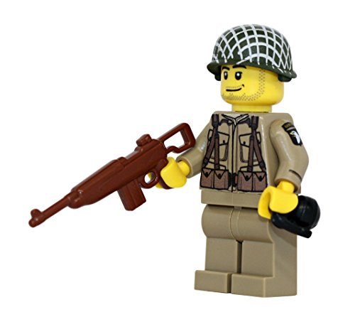 US Army American WW2 101st Airborne Ranger Soldier - Modern Brick Warfare Custom Minifigure