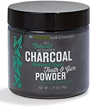 Natural Whitening Tooth & Gum charcoal Powder - spearmint flavor