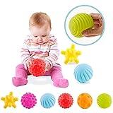 VintageⅢ 6pcs Baby Infant Sensory Balls Structured Multi Ball Set