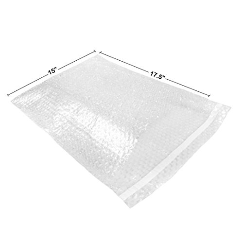 UBOXES Bubble Out Bags 15' x 17.5' Clear Protective Wrap Cushioning Pouches Self Sealing Pack of 25. Protective Secure Cushioning For Any Fragile Items During Any Move