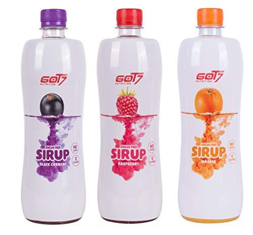 Got7 Sugar Free Sirup Getränkesirup Ohne Zucker Kaum Kalorien Diät Fitness Bodybuilding 6er 750ml (Mix aller Geschmäcker)