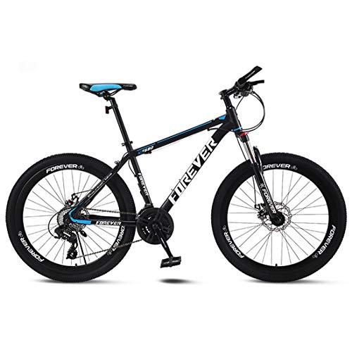 CPY-EX Erwachsene Mountain Bike 26 Zoll Doppelscheibenbremse Stadt Fahrrad Einrad-Off-Road Variable Speed MTB Mountainbike (21/24/27/30 Speed),D,27