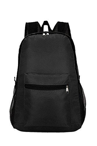 Vococal Sac à Dos Loisir Sac à Dos Voyage Tablet Carry Sac,Nylon,Polyvalent Pliable,Unisexe,Noir,30 x 42 x 14cm