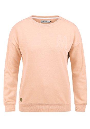 BlendShe Melli Damen Sweatshirt Pullover Sweater Mit Rundhalsausschnitt, Größe:XXL, Farbe:Cameo Rose (20262)