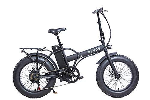 Revoe Dirt VTC Elektrisches Fahrrad, zusammenklappbar, 20 Zoll, Unisex, Erwachsene, Schwarz, Einheitsgröße