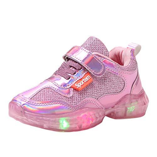 Allence LED Schuhe Turnschuhe Babyschuhe Mädchen Sneakers LED Leucht Schuhe Blumen Krippenschuhe Jungen Lauflernschuhe Leuchtend Sportschuhe LED Sneaker
