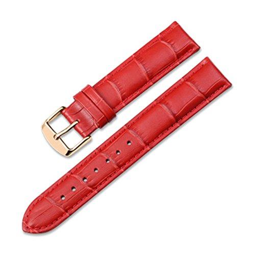 iStrap 20mm Vera Pelle Cinturino Orologio Cinghia con fibbia in Oro Rosa...