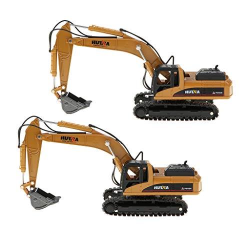 lahomia 2X Aleación Excavadora Camión Juguetes 1:50 Aleación Modelo de Construcción 6x5,5x20 Cm