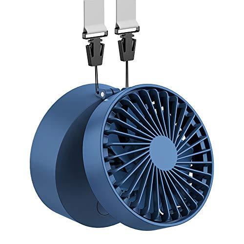 EasyAcc Mini Ventilator Halskette Lüfter Handventilator Personal Fan Faltbar mit 6-18 Std. 2600 mAh aufladbarer Batterie 3 einstellbare Geschwindigkeiten für Innen und Reisen Außenbereich – Königsblau