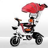 Triciclo Trike Triciclo para bebés - 4 en-1 Triciclo de niños Chica niña juguete steer cochecito con aprendizaje bicicleta niños caminando bicicleta triciclo ajuste para niños de 9-60 meses