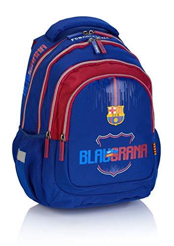 F.C. Barcelona FC-221 Fan 7 - Mochila, color azul marino/burdeos, 39 x 28 x 17 cm