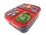 Fiambrera para niños / fiambrera / fiambrera a elegir: Frozen PJ Masks Spiderman Avengers - Mickey - Paw de plástico sin BPA - Gran regalo para niños (Avengers Heroes)