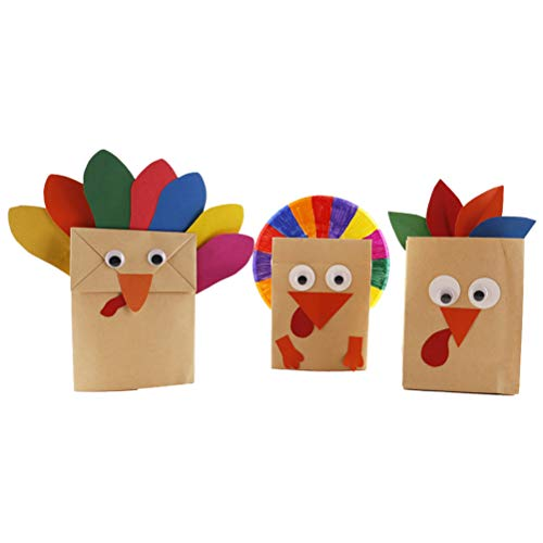 BESTOYARD Thanksgiving Handmade Türkei Papiertüte DIY Handwerk Set Thanksgiving Hängende Dekorationen Spielzeug für Kinder