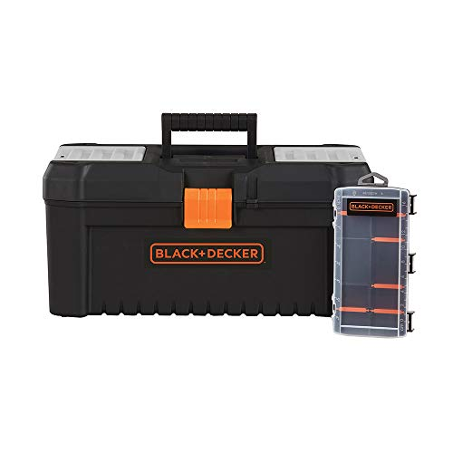 beyond by BLACK+DECKER Tool Box & Organizer, 16-Inch, 10-Compartment (BDST60096AEV)
