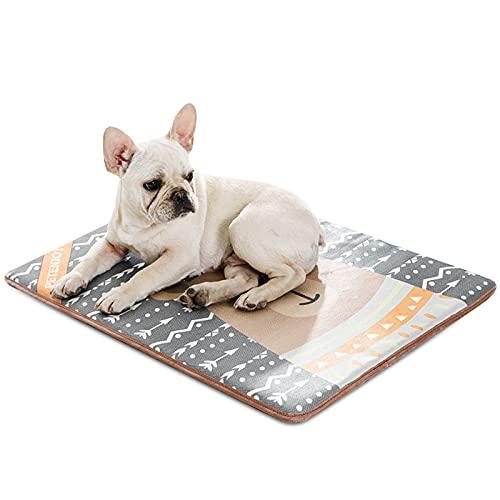 PETCUTE Alfombra de Refrigeración para Perro Gato Cojines para Perreras Alfombra Refrescante Colchoneta Cama Frio Animales Colchon Mascotas para Verano XL(100x70cm)