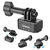 Tripod Mount Adapter Attachments for Gopro, Hummingbird Quick Release Plate 1/4 & Action Cam Tripod Mount +QR Base Vlog Accessories Kits
