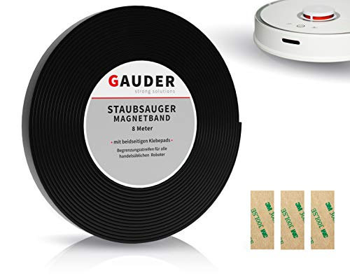 GAUDER Saugroboter Magnetband NEUE VERSION 2020 I passend für Neato Xiaomi Miele Vorwerk Tesvor