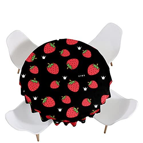 Highdi Impermeable Mantel de Redondo, 3D impresión Antimanchas Lavable Manteles Moderno Decoración para Salón, Cocina, Comedor, Mesa, Interior y Exterior (Corona,Diámetro 170cm)