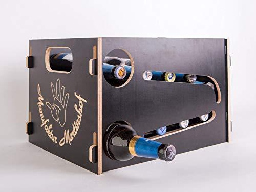 Manufaktur Martinshof Bierkasten Flaschenrutsche schwarz-braun