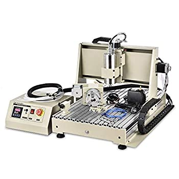 TFCFL 4 Axis USB 1.5KW CNC 6040T Router Engraver Engraving Mill/Drilling Machine + RC for PCB Badges Bronzing Plate etc