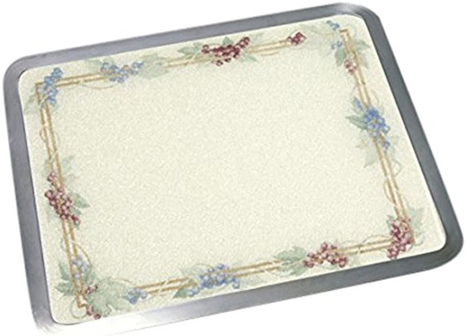 Vance Surface Saver 71620GVA 16 X 20  Almond Grapevine Built-in Surface Saver Tempered Glass Cutting Board, Almond Grapevine