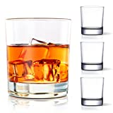 COPLIB Whiskey Glasses Set of 4 -11 OZ Old Fashioned Glasses/Premium Crystal Glasses, Perfect for Whiskey Lovers, Rocks Glasses for Scotch, Bourbon, Liquor, Rum, and Cocktail Drinks - Classic