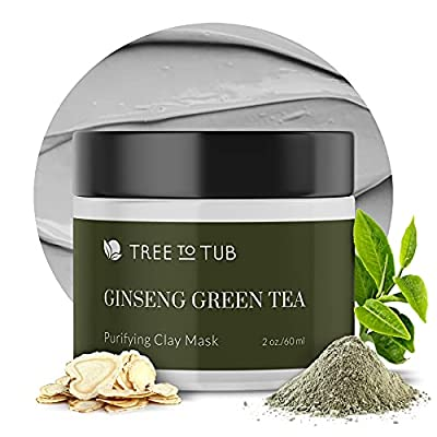 Activated Clay Face Masks for Women by Tree to Tub - Non Peel Off Clay Masks - Deep Cleansing Face Mask for Anti-Aging & Hydrating with Indian Bentonite Clay, Vitamin C, Hyaluronic Acid - 2oz by Tree To Tub