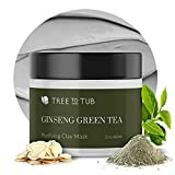 Activated Clay Face Masks for Women by Tree to Tub - Non Peel Off Clay Masks - Deep Cleansing Face Mask for Anti-Aging & Hydrating with Indian Bentonite Clay, Vitamin C, Hyaluronic Acid - 2oz