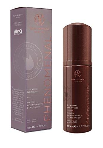 Vita Liberata Phenomenal 2-3 Week Tinted Self Tan Mousse, Dark, 4.22 fl. oz