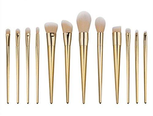 MFFACAI Pinceaux de Maquillage Set de Brosse Makeup 12 pièces Kits de Fondation Pinceau à Poudre Kit de Maquillage pour Les Yeux