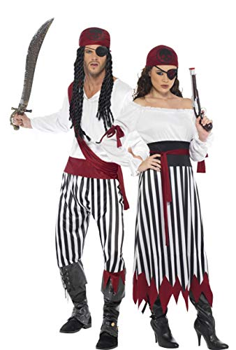 Generique - Costume Coppia di corsari Taglia UnicaCostume Coppia di corsari Taglia Unica
