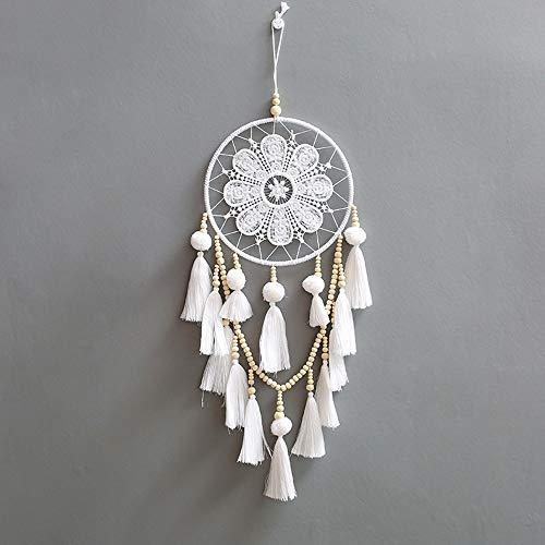 Yishelle Fait à la Main Dream Catcher Circulaire Net avec Blanc Gland Perles dans Une Boîte Cadeau pour La Maison Mur De Voiture De Mariage Décoration Suspendue Ornement De Cadeau Blanc
