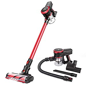 MOOSOO Cordless Vacuum Cleaner 17Kpa Strong Suction 2 in 1 Stick...