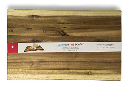 Architec Gripperwood Bare Acacia Cutting Board, Non-Slip Gripper Feet, 11' by 17'