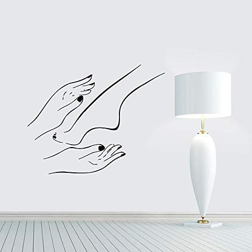 Arte de uñas Manicura pedicura Spa Mujer Manos Pies Cuidado Etiqueta de la pared Calcomanía de vinilo Chica Dormitorio Sala de estar Salón de belleza Estudio Tienda Decoración para el hogar Mural