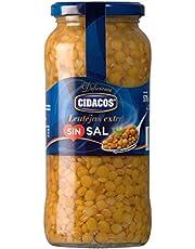 Cidacos lentejas sin sal añadida tarro 570 gr. extra - [Pack de 6]