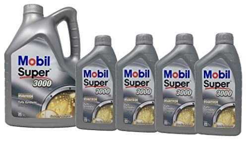 Aceite Lubricante Motor Sintético - Mobil Super 3000 X1 5W-40, Pack 9 litros