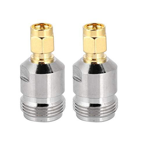 Bewinner 2 STK. N SMA-Buchse auf Stecker, Koaxial-Antennenadapter für Hochfrequenz- / Niederfrequenz- / Niederimpedanzanwendungen, Antennen, WLAN-Geräte, Koaxialkabel, Wi-Fi-Radio