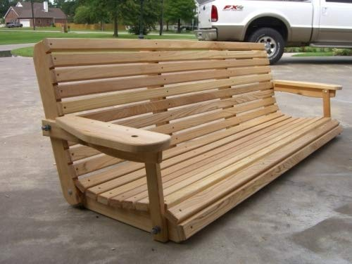 6 Ft Cypress Porch Swing with Adjustable Seating Angle (66' Seat)