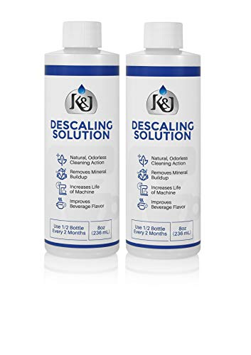 2-Pack Universal Descaling Solution - USA MADE - Descaler for Keurig, Cuisinart, Breville, Kitchenaid, Nespresso, Delonghi, Krups, and all other coffee brewers - by K&J