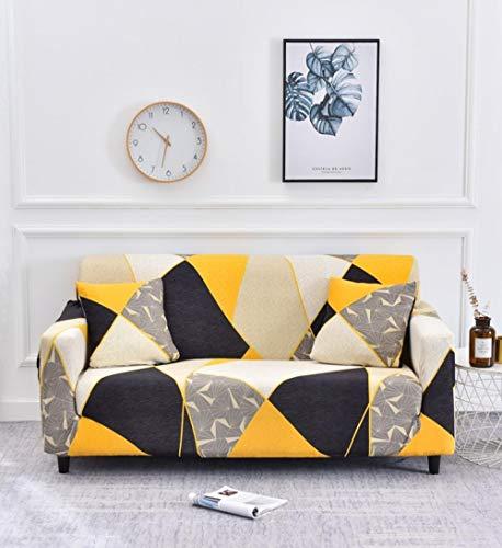 Fsogasilttlv Funda Elástica de Sofá 2 plazas, Funda de sofá elástica elástica de Color sólido, Fundas de sofá para sofás universales para Sala de Estar D