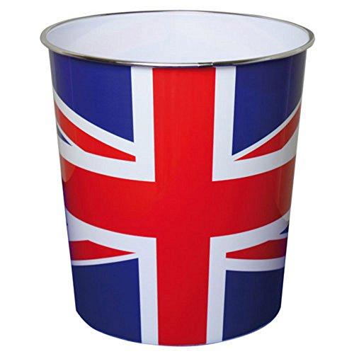 JVL Papierkorb, 25x26,5cm, Motiv Britische Flagge/ Union Jack