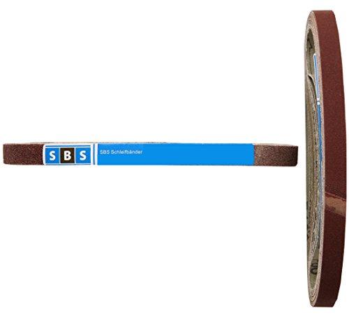 Bandas de tejido de lija (13 x 451,  96 unidades total,  16 unidades en cada grano 40/60/80/120/180/240,  para Black & Decker Powerfeile)